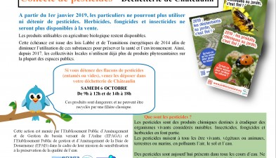 Collecte de pesticides